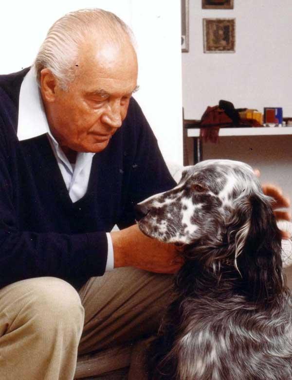 Rentner mit Setter. Foto: IVH