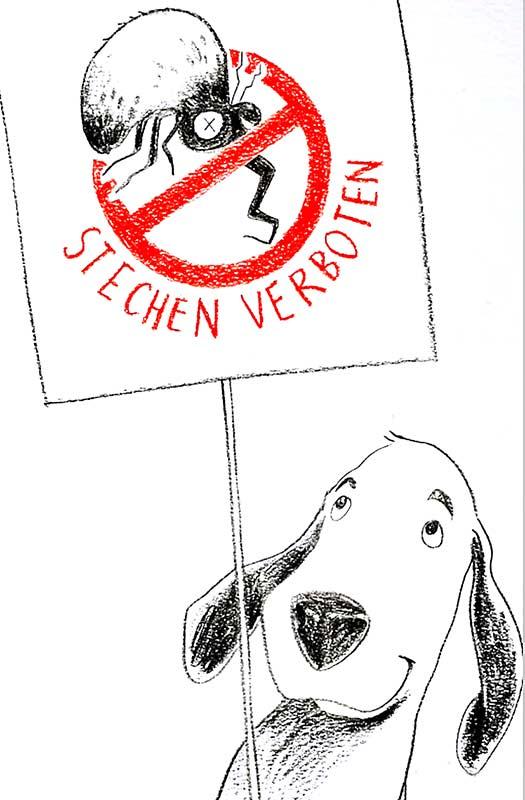 Zeichentrick-Hund Buddy informiert anschaulich und unterhaltsam über die verschiedenen Wirkweisen von Antiparasitenmitteln